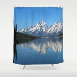 Jackson Lake and Grand Teton Refection Shower Curtain