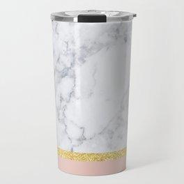 Marble Peach Travel Mug