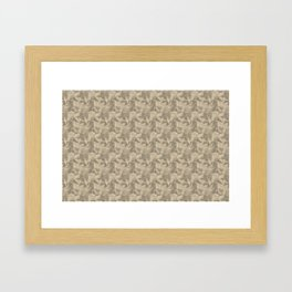 Abstract Geometrical Triangle Patterns 2 Benjamin Moore 2019 Trending Color Putnam Ivory Cream HC-39 Framed Art Print