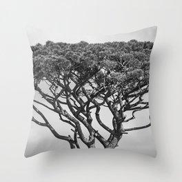 Stone Pine - Black and White Throw Pillow