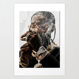 Pop Smoke Print Canvas, Pop Smoke Poster, Pop Smoke Print Art, Custom Canvas Art, Home Decor, X-Mas, Merry Christmas Art Print