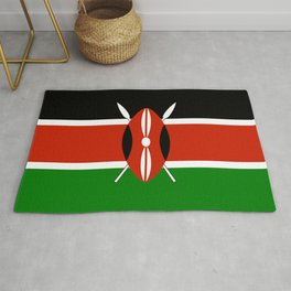 National flag of Kenya - Authentic version, to scale and color Rug