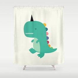 Dinocorn Shower Curtain