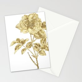Gold Glitter Flower Stationery Cards