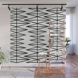 Stairs - Monochrome Modern Abstract Wall Mural