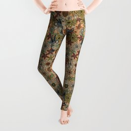 nectar bird garden peach Leggings