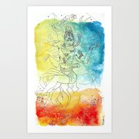 The Cosmic Dancer Art Print