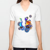 robots V-neck T-shirts featuring Robots by aboutlaila