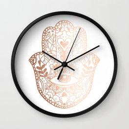 Copper Hamsa Hand Wall Clock