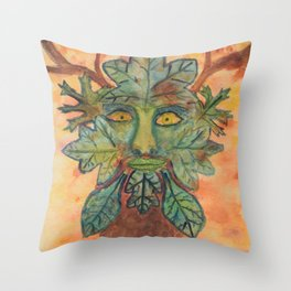 The Guardian of the Forest Throw Pillow