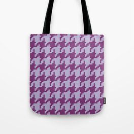 Houndstooth - Purple Tote Bag