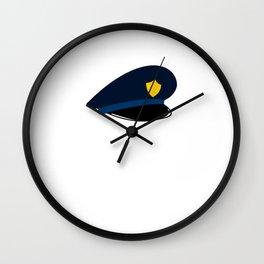 Police It Must Be Earned Wall Clock