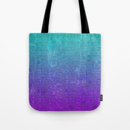 Tropical Twilight Glitter Gradient Tote Bag
