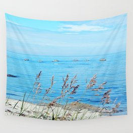 Circle of Rocks and the Tall Grass Wall Tapestry