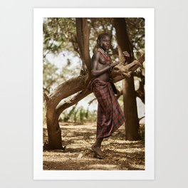 Dassanech Beauty Art Print