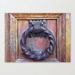 Venetian Door Knocker Canvas Print