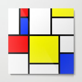 Mondrian1 Metal Print