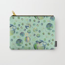 Polka Gravure Carry-All Pouch