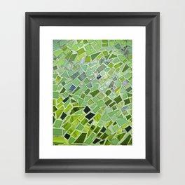 New Growth Mosaic Framed Art Print
