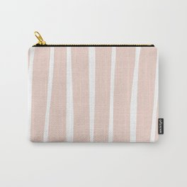 Organic Stripes - Pale Coral Carry-All Pouch