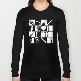 Pop Music Art B&W Long Sleeve T-shirt