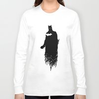 justice league Long Sleeve T-shirts featuring Justice Silhouette #2 by iankingart