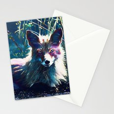 Night Fox Painting Stationery Cards