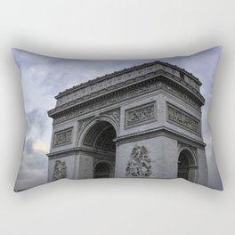 The Arc de Triomphe de l'Etoile with Classic Blue Sky Rectangular Pillow