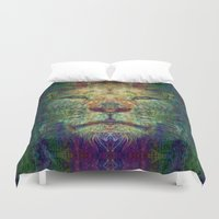 the lion king Duvet Covers featuring Lion King by Zandonai