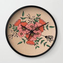 Pinto flores Wall Clock