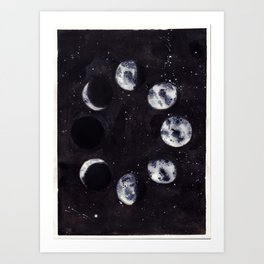 Lunar Cycle Art Print