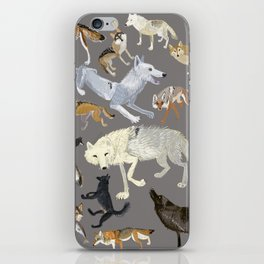 Wolves of the world poster iPhone Skin