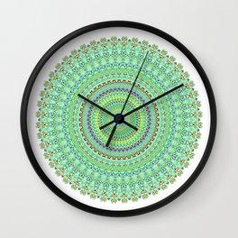 Pastel Green Doily Spiral Wall Clock