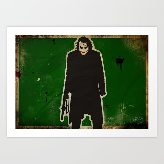 The Dark Knight: Joker Art Print