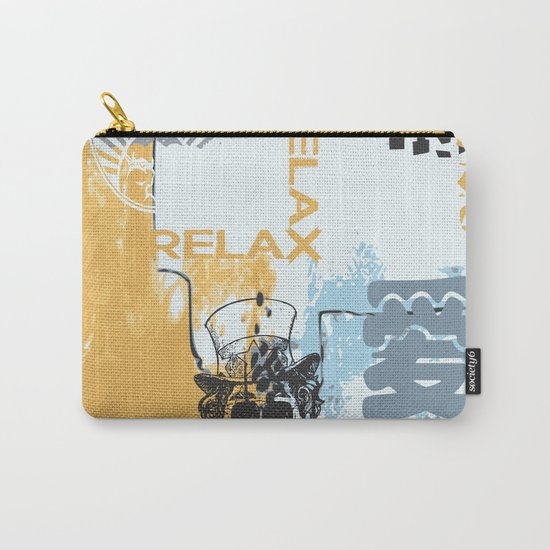Random abstract typography street art Carry-All Pouch