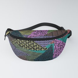 Pattern Mania Collage Vibrant Print Fanny Pack