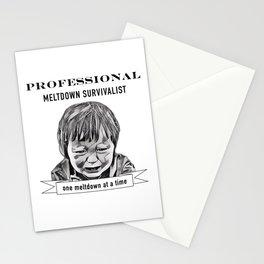 Professional meltdown survivalist Stationery Cards