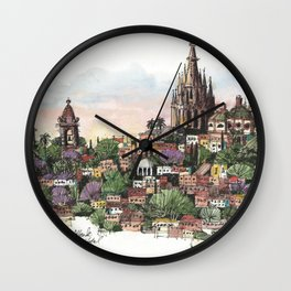 Sunset over San Miguel de Allende Wall Clock