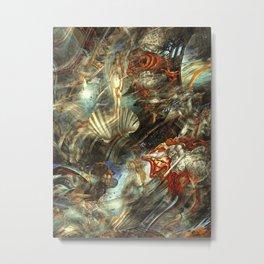 Abstruse interpretation of a painting by Botticelli  (Version 2) Metal Print