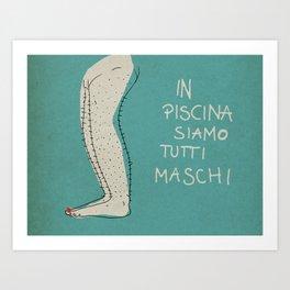 in piscina  Art Print