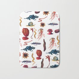 invertebrates animals pattern Bath Mat