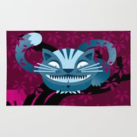 cheshire Area & Throw Rugs featuring Cheshire smile by LuisD