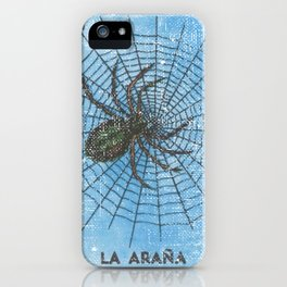 La Arana Mexican Loteria Bino Card iPhone Case