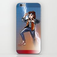 mcfly iPhone & iPod Skins featuring Marti McFly by Eye Opening Design