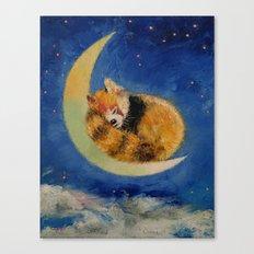 Red Panda Dreams Canvas Print