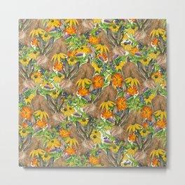 Jackalope Wildflower Florals Metal Print