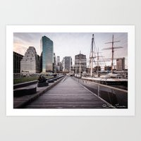 Boats, Bridges and Buildings Art Print
