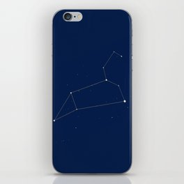 Leo Constellation Illustration, Blue Decor, Universum Pillows, T-Shirts, Duvet Cover iPhone Skin