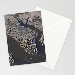 Manhattan - city map Stationery Cards