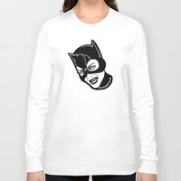 "meow Long Sleeve T-shirts featuring ""Meow"" by Rachcox"